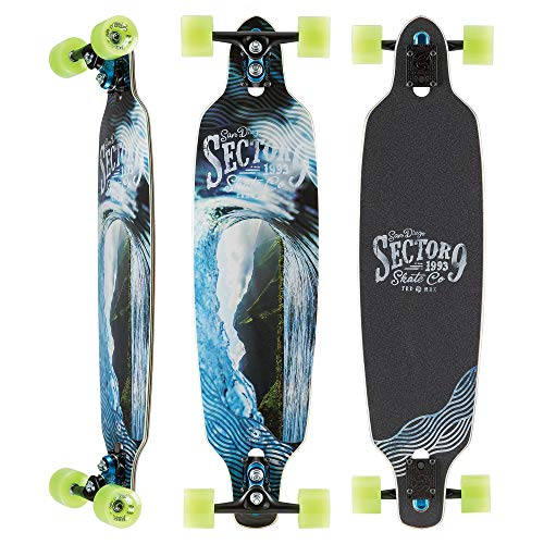 Sector 9 Echo Fractal Complete 36 Inch Maple Drop Through Longboard for Carving (Shelf Wall Surfboard)
