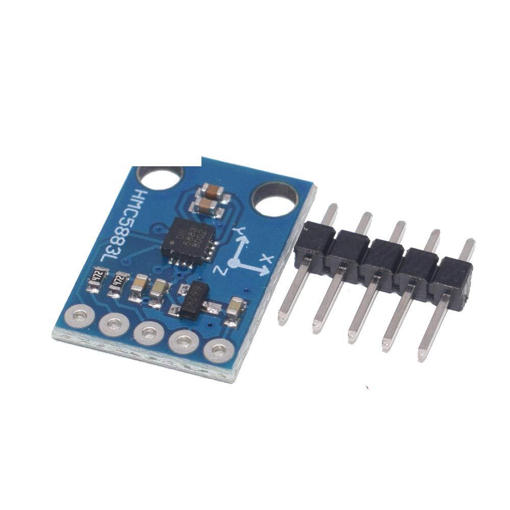 50PCS GY-273 HMC5883L Triple Axis Compass Magnetometer Sensor Module 3V-5V by FengHui