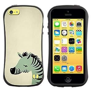 Suave TPU GEL Carcasa Funda Silicona Blando Estuche Caso de protección (para) Apple Iphone 5C / CECELL Phone case / / Sleepy Cute Animal Green Beige /