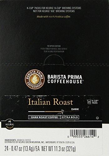 Barista Prima Coffeehouse Coffee, Keurig K-Cups, Italian Roast, Dark Roast, 24- Count (Italian Roast Dark compare prices)