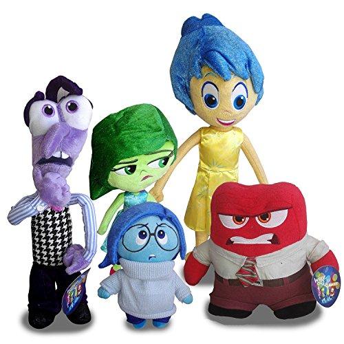 BTZ 5pcs/lot Inside Out Plush Toys Disney Movie 5 Emotions for