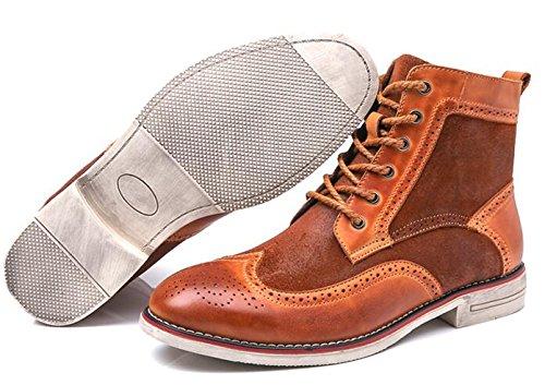 Stivali In Pelle Brogue Martys Boots In Feltro Brunito Per Uomini Cool