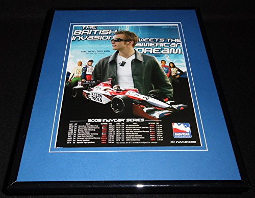 Dan Wheldon 2005 IndyCar Framed 11x14 ORIGINAL Advertisement -