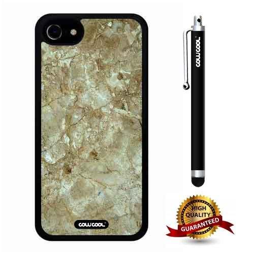 (iphone 7 Case, Marble Pattern Case, Cowcool Ultra Thin Soft Silicone Case for Apple iphone 7 - Natural Jade Marble Texture)