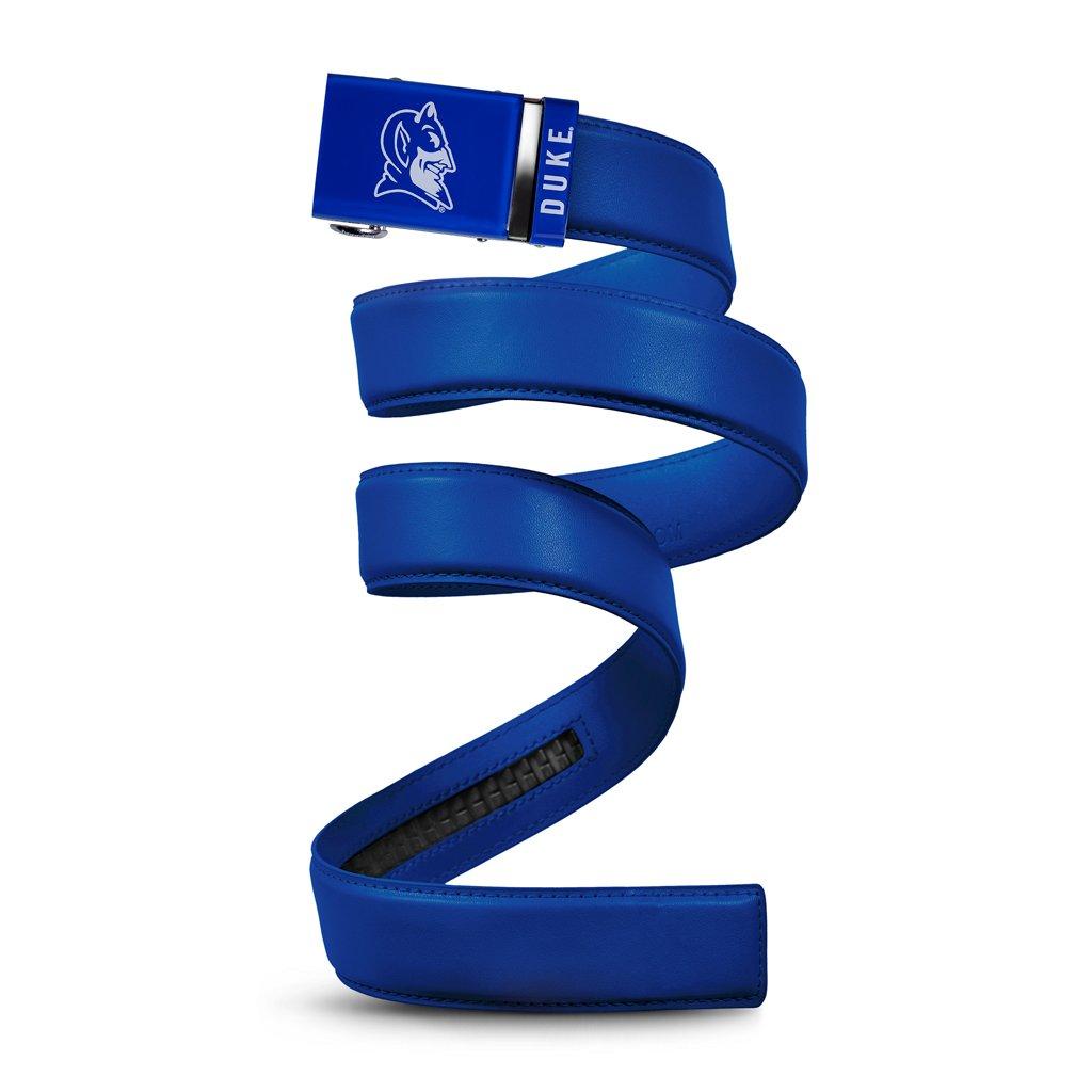 Mission Belt NCAA Duke Blue Devils, Surf Royal Leather, Large (up to 38)