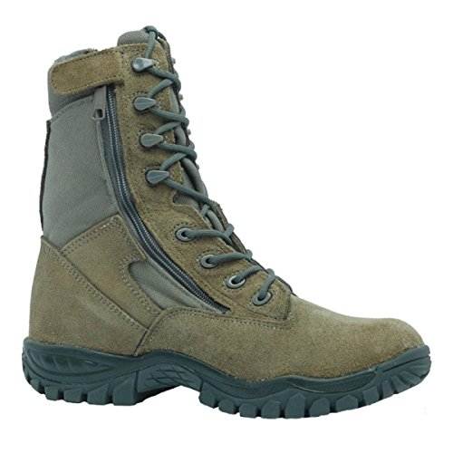 (Belleville 612Z Hot Weather Side Zip Tactical Boot, Sage Green, 12)
