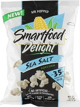 Smartfood Delight, Sea Salt Seasoned Popcorn by Frito Lay, 5.5oz Bag (Pack of 2)