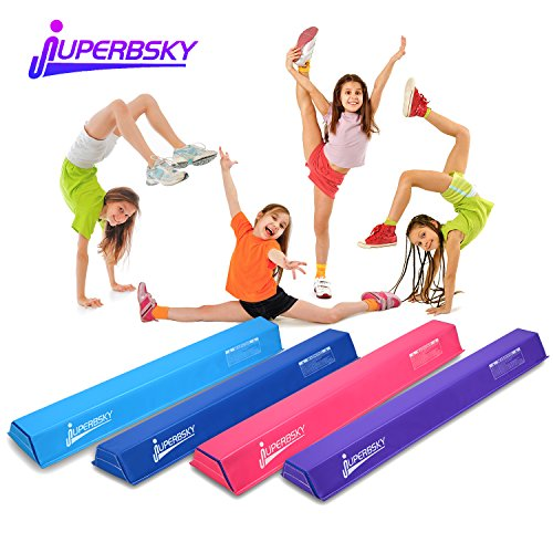 Juperbsky Gymnastics 4ft Balance Beam for Kids