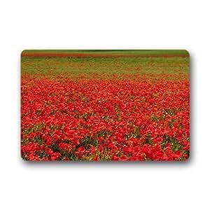 """Custom poppy Doormat Outdoor Indoor 23.6""""x15.7"""" about 59.9cmx39.8cm"""