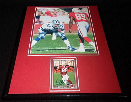 David Boston Signed Framed 11x14 Photo Display Cardinals vs Deion Sanders - Autographed NFL Photos