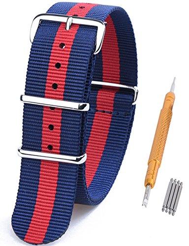 18 opinioni per Randon, Nato, cinturino per orologio, in nylon balistico, con fibbia in acciaio