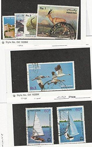 Pakistan, Postage Stamp, 584-7, 592, 601-2 Used, 1983 Sailboat, Bird, Animal