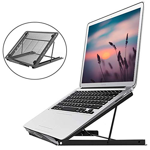 Laptop Stand,Foldable Tablet Laptop Holder Stand Ventilated Adjustable Eye-Level Ergonomic Laptop Riser Laptop Holder Desk Stand for 10″-16″Computer Notebook PC Pad