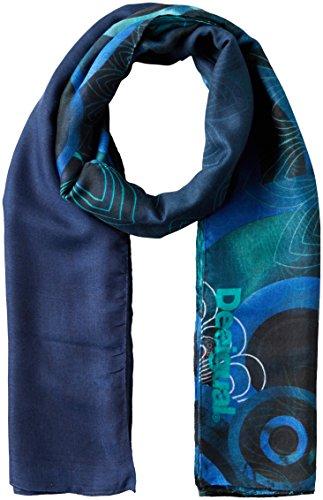 Desigual Women's Enrien Rectangle Foulard Scarf, Blue, One Size