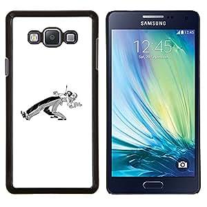 """Be-Star Único Patrón Plástico Duro Fundas Cover Cubre Hard Case Cover Para Samsung Galaxy A7 / SM-A700 ( Bailarines Pareja Minimalista Negro Blanco"""" )"""