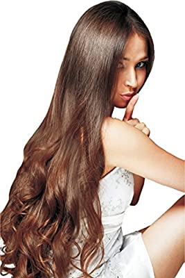 "TRESSMATCH 20""-22"" Remy Human Hair Clip in Extensions Thick to Ends Black Brown Blonde Auburn Red Highlights 9 Pieces(pcs) Full Head Set [set weight:4.4oz/125grams) ..."