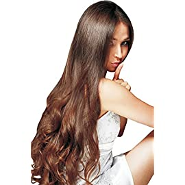 20″ inch Invisible Wire Halo Remy Human Hair Clip in Extensions Chocolate Brown (Color 4) Thick to Bottom Wefts