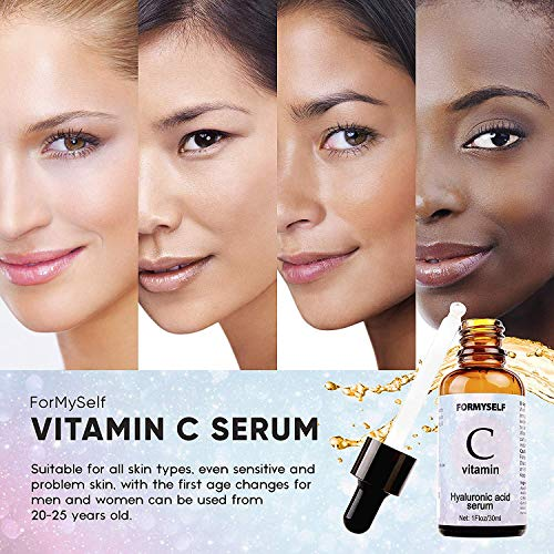 51phbffM2JL - Vitamin C Serum For Face 20% with Hyaluronic Acid 1 Fl.Oz Vitamin E Natural Anti Aging & Wrinkle Retinol Facial Serum Sun Damage Corrector Remover for Face Dark Circles Under Eye Fine Lines Treatment