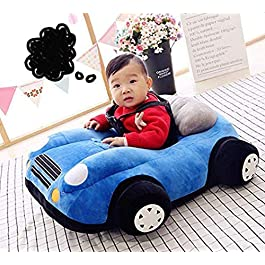 Besties Cotton Toddlers Training Seat Baby Safety Sofa Dining Chair/Learn to Sit Stool, 3-12 Months (Car Shape Sofa Blue…