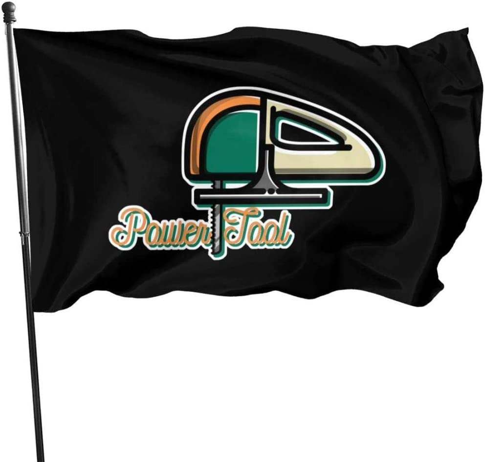 PEIYUH Garden Flag Vintage Power Tool,Durable Polyester Banner, Double Stitched and Fade Resistant Flags with Brass Grommets for Indoors Outdoors 3 X 5 Ft