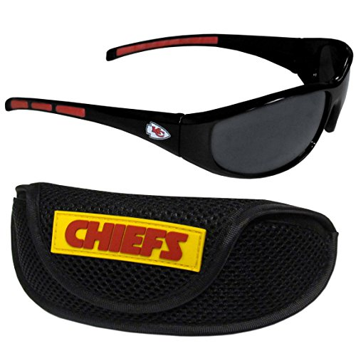 Siskiyou NFL Kansas City Chiefs Wrap Sunglasses & Sport Case, Black ()
