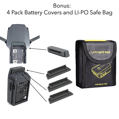 FSLabs DJI Mavic Pro/Platinum 5 In 1 Rapid Battery Charger Smart Multi Battery Intelligent Charging Hub With Ground Connection [2018 Edition]