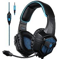 SADES SA807 Multi-Platform Gaming Headsets Headphones For New Xbox one PS4 PC Laptop Mac iPad iPod (Black&Blue)