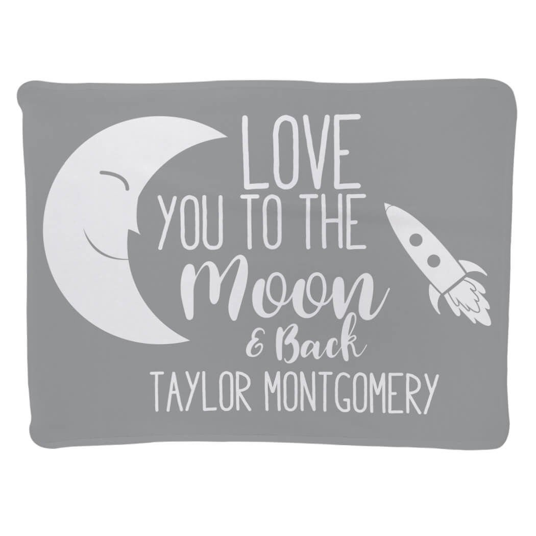 Baby & Infant Blanket | to The Moon and Back | Gray