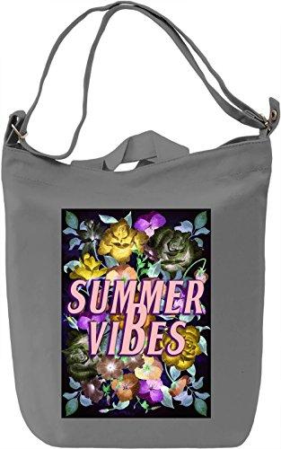 Summer Vibes Borsa Giornaliera Canvas Canvas Day Bag  100% Premium Cotton Canvas  DTG Printing 