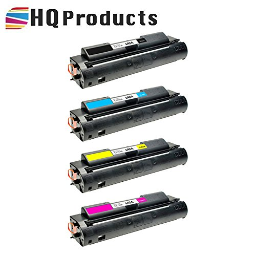 (HQ Products Remanufactured Replacement HP 640A 4Pk Set (C4191A, C4192A, C4194A, C4193A) B, C, Y, M Toner Cartridges for HP Color Laserjet 4500, 4500DN, 4500HDN, 4500N, 4550, 4550DN Series Printers.)