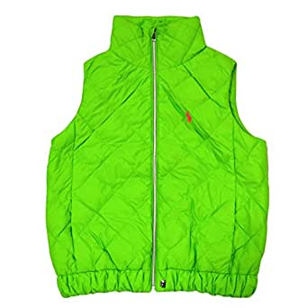 Polo Ralph Lauren Womens Quilted Down Puffer Vest (XS, Neon Green)