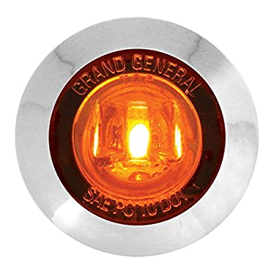 "GG Grand General 75220 1-1/4"" Dual Function Mini LED Light with Chrome Plastic Bezel for Trucks, Trailers, ATVs, UTVs, RVs Amber: Automotive"
