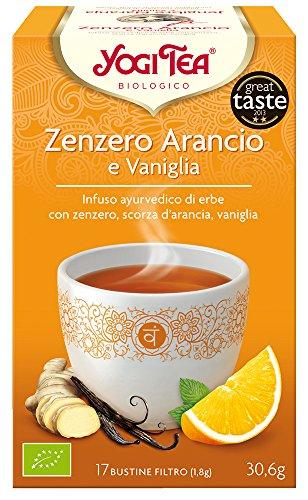 Yogi Tea Infusion de Hierbas Jengibre, Naranja y Vainilla - 17 bols