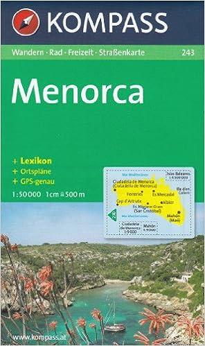 Menorca 1:50.000 España, Islas Baleares senderismo y mapa topográfico ciclismo # 243: Amazon.es: KompassMaps: Libros