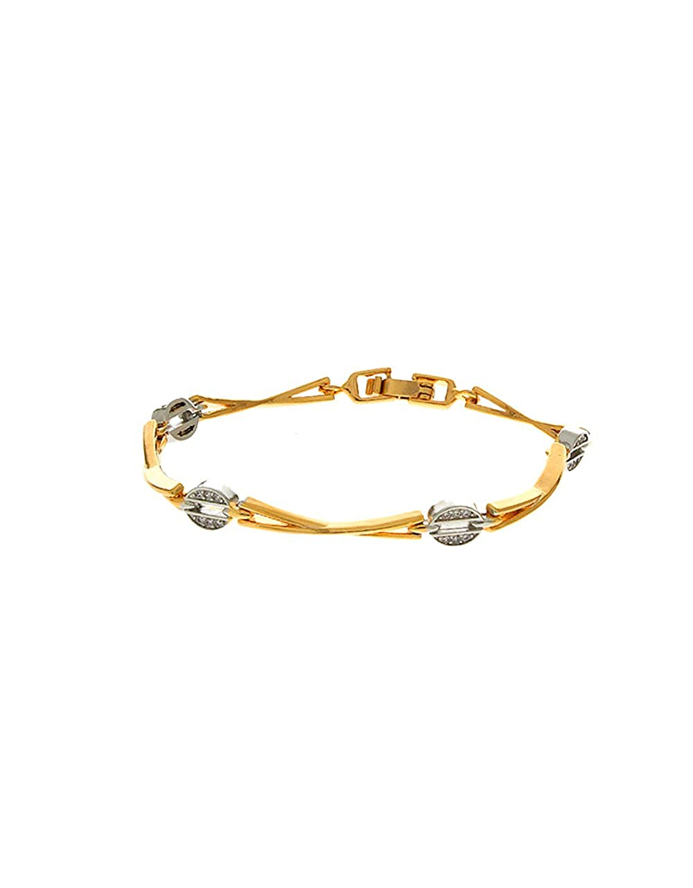 Anuradha Art Silver Finish Party Wear Leather Hand Bracelets for Women//Men