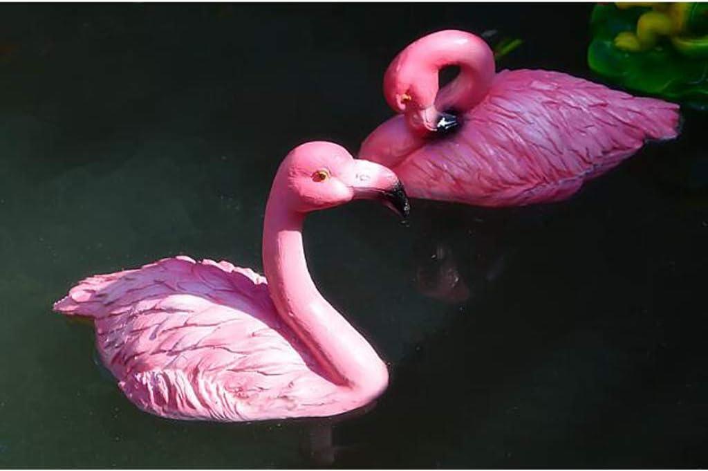 MagiDeal K/ünstliche Schwimmend Flamingo Teichdeko Gartenfigur Teichfigur Gartendeko A# Rosa