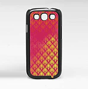 Gold and Pink Pattern Hard Snap on Phone Case (Galaxy s3 III)