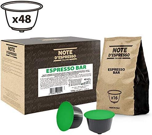 Note D'Espresso Espresso Bar Miscela di Caffè Torrefatto in Capsule Compatibili con Sistema Dolce Gusto - 336 g (48 x 7 g)
