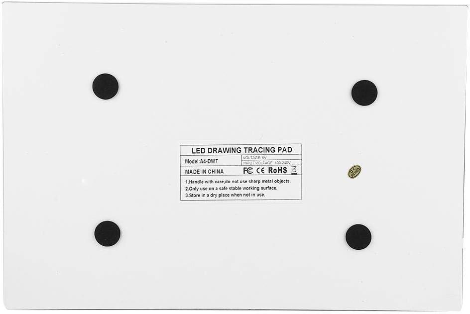 A4 LED Tavoletta Luminosa per Disegno,A4 Tracing Light Box con Cavo di Alimentazione USB per Drawing Sketching 8mm Ultra-Sottile Light Board Disegno artistici