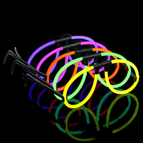 LaRibbons 25 Pack Glow Eyeglasses Sticks in Assorted Colors