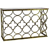 Aspire Myra Metal Console Table, Gold