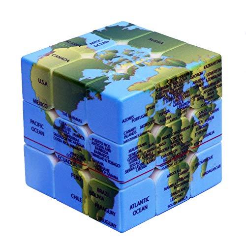 - My-dym Earth Marpamundi Rubik's Cube UV Prints Third-Order Earth Marpamundi 3x3x3 Rubik's Cube Educational Toys
