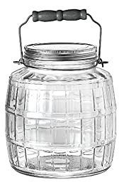 Anchor Hocking 85728 1 Gallon Barrel Jar With Metal Lid