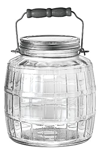 Anchor Hocking 1 Gallon Glass Barrel Jar With Lid
