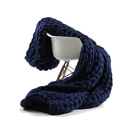 eastsure Knit acrílico manta hecho a mano para cama sofá manta ...