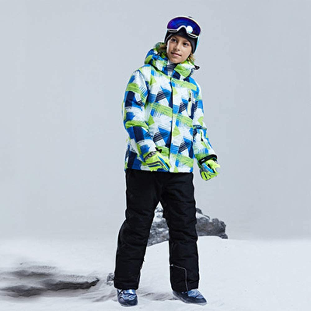 WOWULOVELY Boys Ski Jacket and Pants Snow Insulated Suit Windproof /& Waterproof
