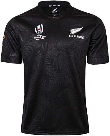 WYNBB Rugby Maillot 2019 Coupe du Monde Team New Zealand Maori All Blacks Survêtements Football Soccer T Shirt d'Entraînement Respirant Textile