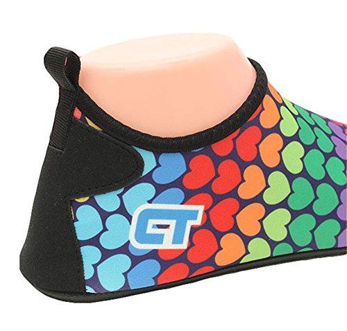 Loving Fortuning's B Per Heart Jds Iridescence Sport Snorkeling Acquatici Da Nuoto Colourful Scarpette Pinna qZrBtngZ