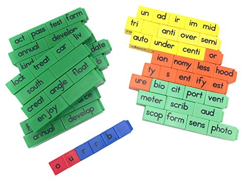 Reading Rods - Prefixes, Suffixes, and Root Word Linking Cubes