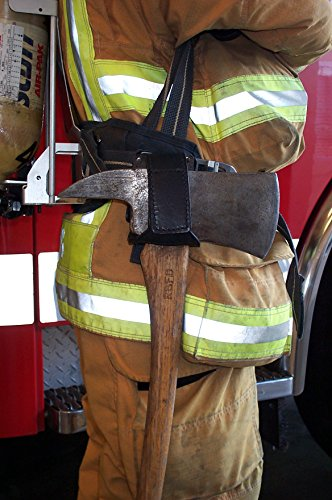 LINE2design Firefighter Fire Axe Cradle-Holder with 360 Degree Swivel Leather (Swivel Clip Holster Cradle)